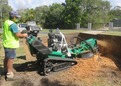 Stump grinder Red Roo SG30- TRX in action.